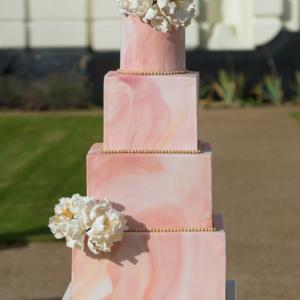 Asian Wedding Cake marble peony