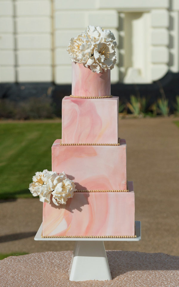 Asian Wedding Cake marble peony