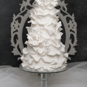 modern bling wedding cake