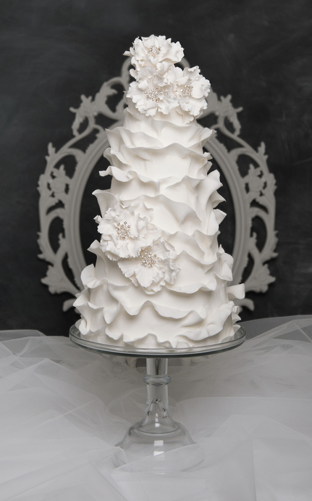 modern bling wedding cake