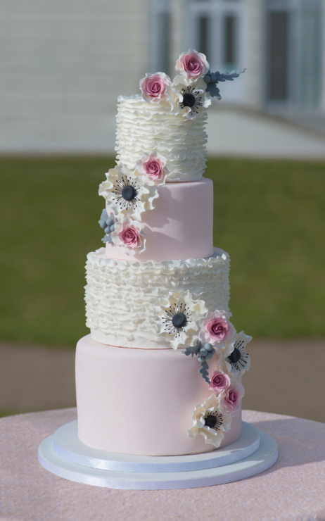 dusty pink and silver wedding cake wedding cakes west wedding cakes liverpool wedding 13795