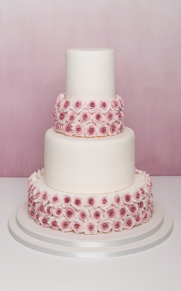 vintage ombre Wedding Cake Flowers