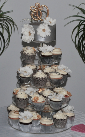 50th Birthday Cakes cupcake tower