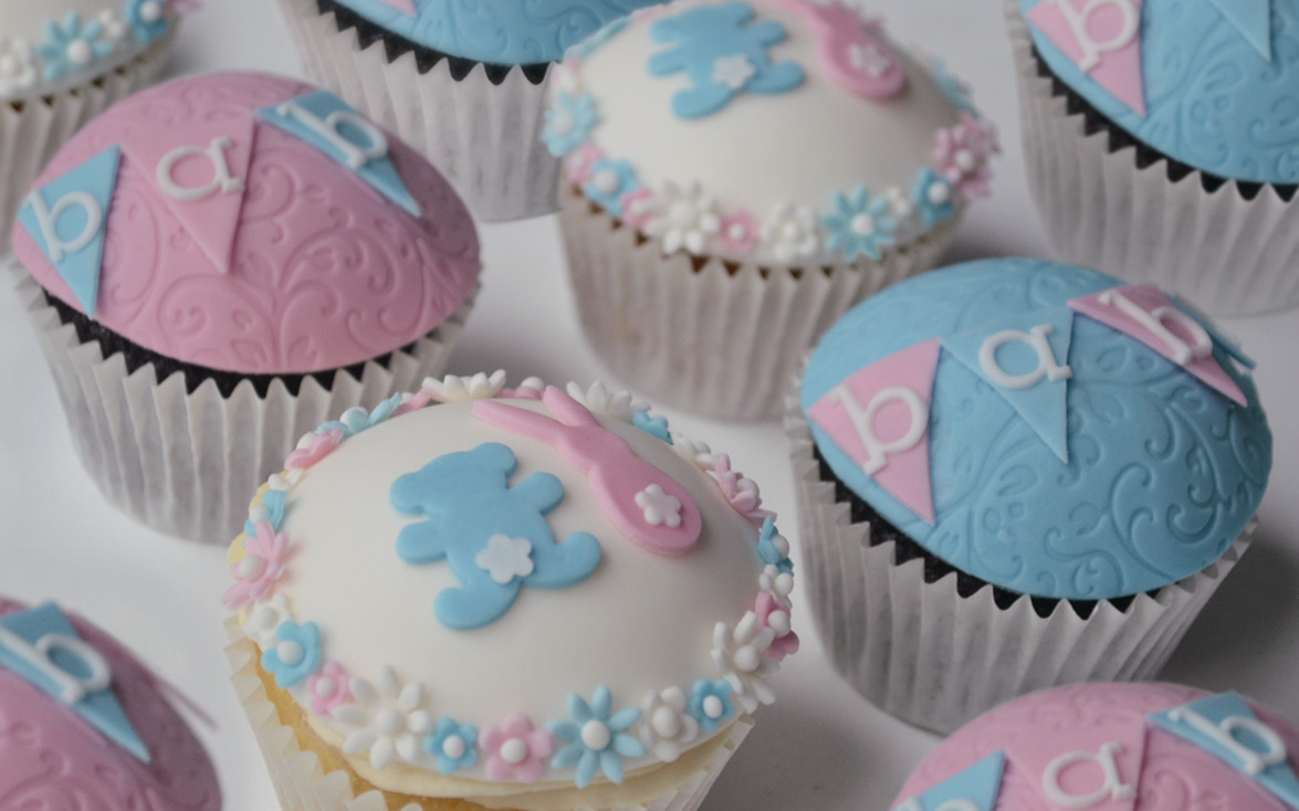 Baby Shower Cupcakes - Bespoke Celebration Cakes For All ...  Baby Shower Cup...