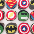 boys birthday super hero cupcakes