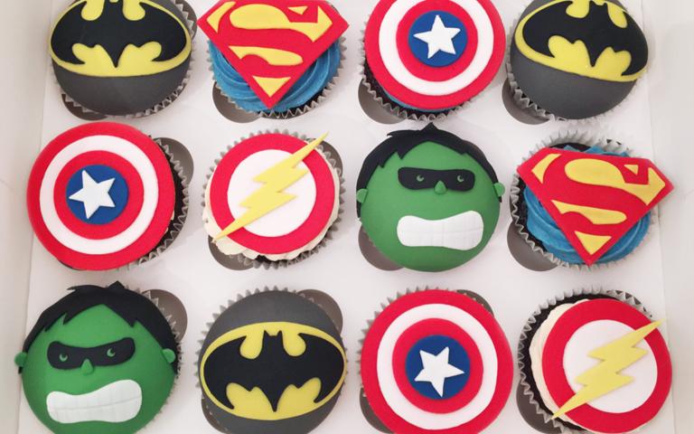 Super Hero Cupcakes