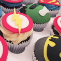 boys birthday super hero cupcakes 2 close up