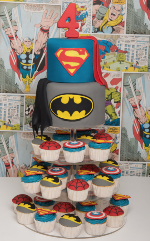 Batman Cake cupcake tower