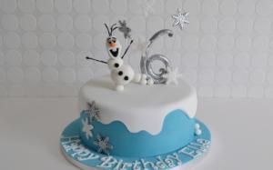 Girls Frozen Birthday Cake