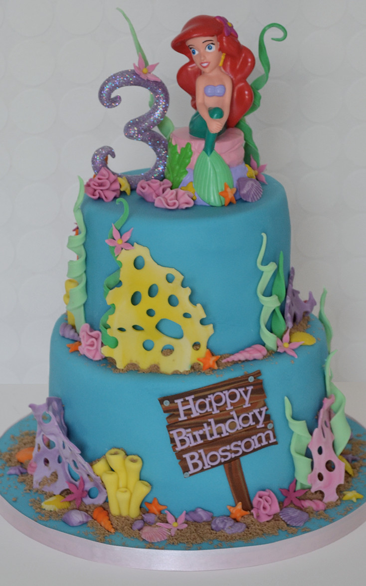 Little Mermaid Cake Girls Birthday Bespoke Cakes For All Occasions