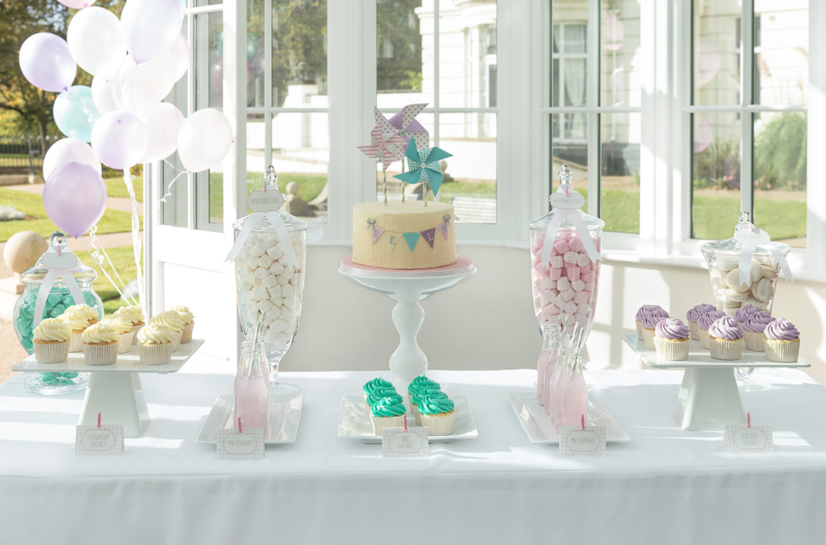 candy buffet sweet table pastel