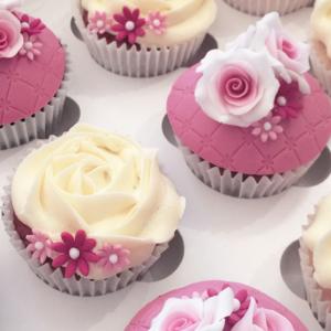 Floral Wedding Cupcakes