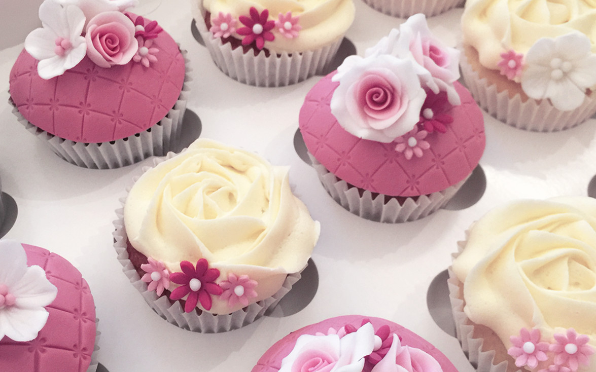 Floral Wedding Cupcakes - Bespoke Celebration Cakes For All Occasions