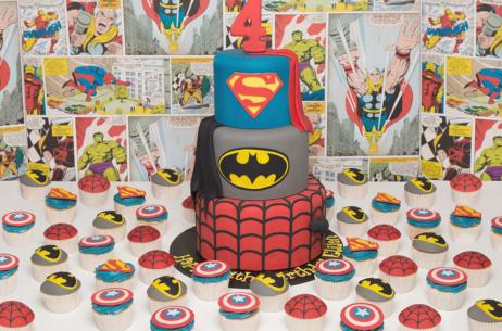 candy buffet sweet table batman