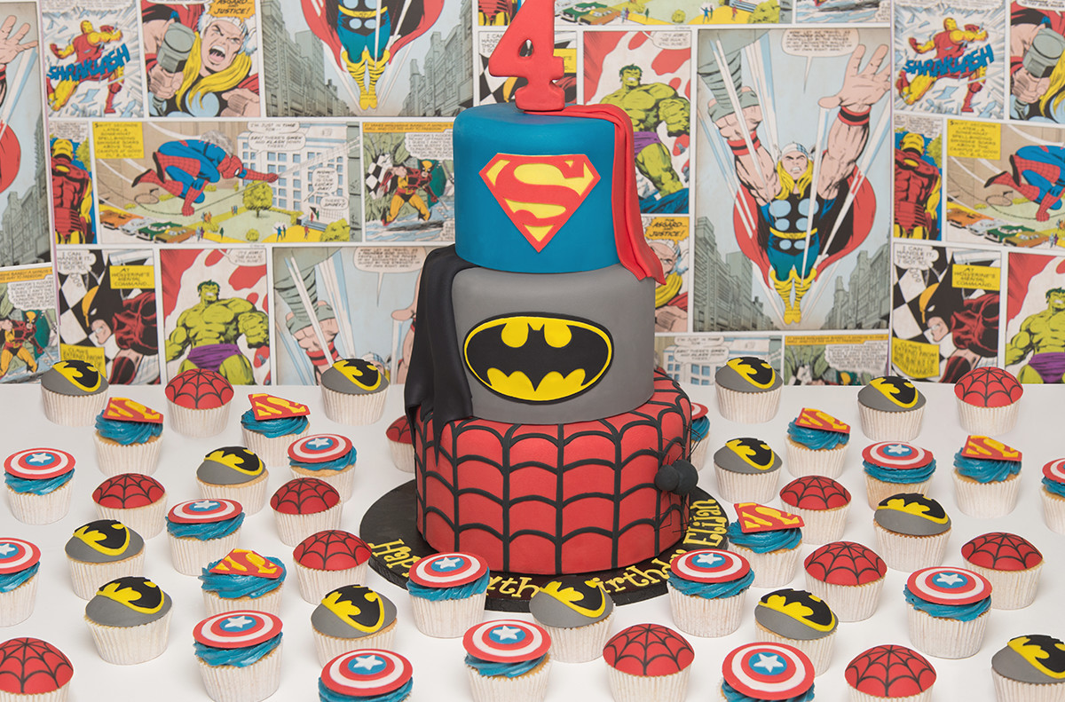 candy buffet sweet table batman