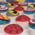 super hero boys birthday cupcakes
