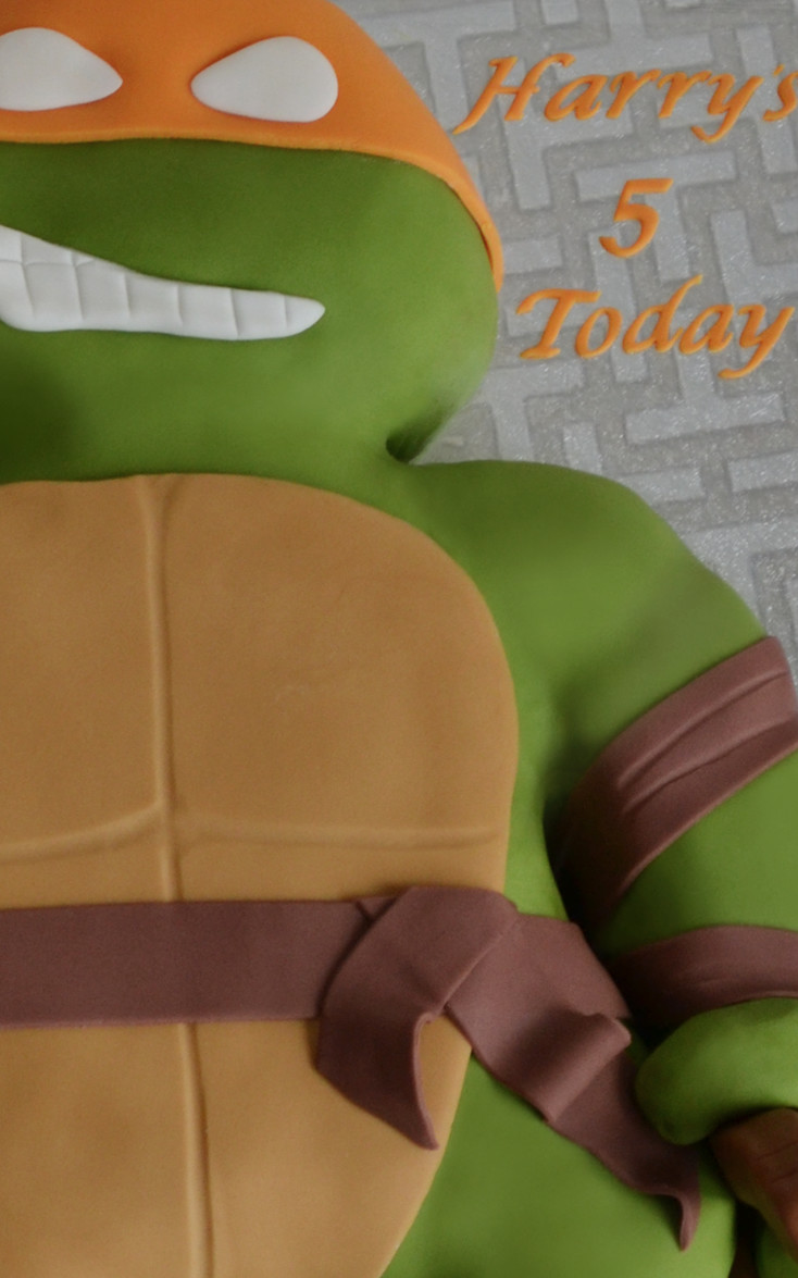 TMNT Cake boys teenage mutant ninja turtles birthday cake