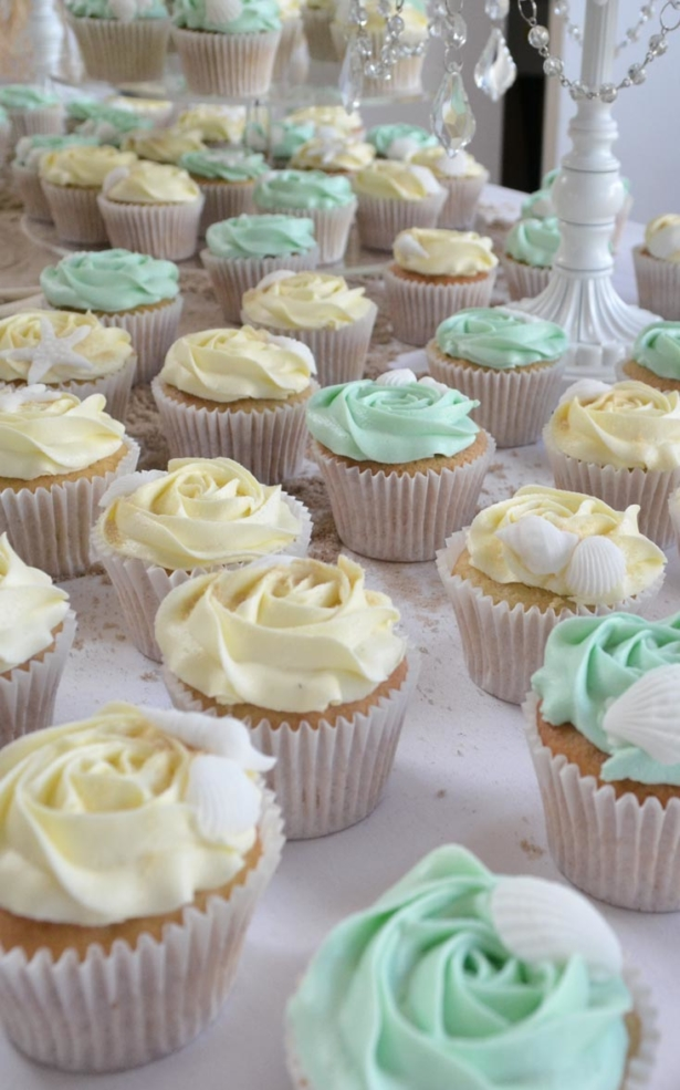 Beach Wedding Cakes And Cupcakes Custom Wedding Cupcake