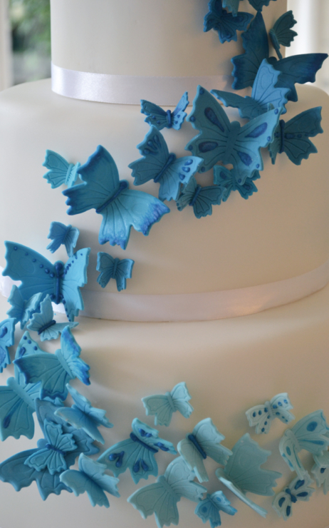Ombre birthday cake