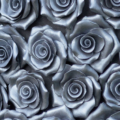 silver rose brooch close up 1