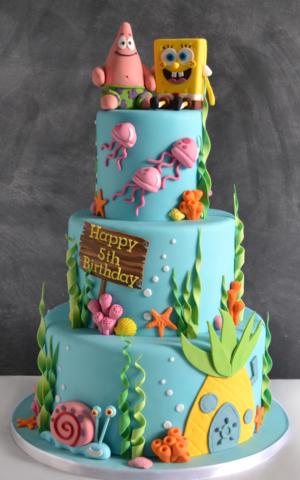 Spongebob Cake celebration cake