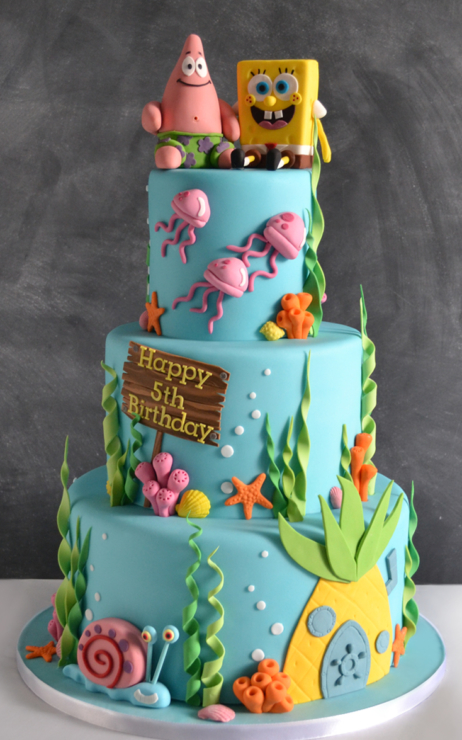 Spongebob Cake Design Goldilocks Kustura for