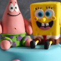 spongebob birthday cake close up 2