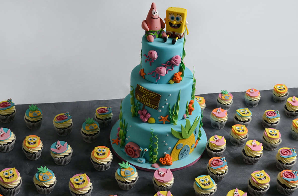 candy buffet sweet table spongebob