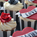 tattoo cupcake tower close up