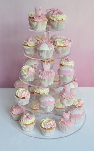 Ballerina Cake cupcake tower