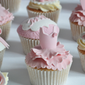 girls Ballerina Party Cupcakes