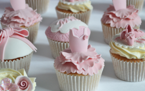 girls Ballerina Party Cupcakes