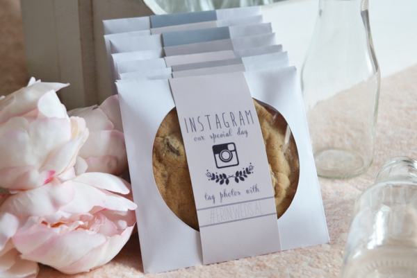 #Wedding Instagram Wedding Cookie