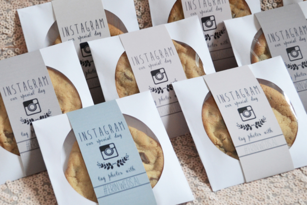wedding hashtag favours