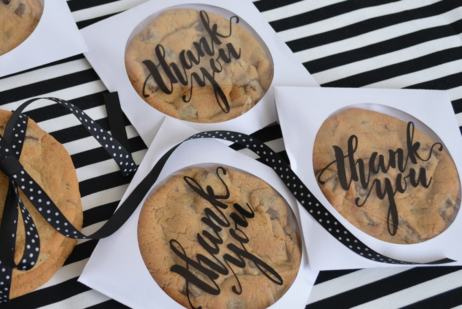 Thank You Wedding Favour Cookies
