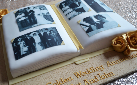 50th Wedding Photo Cake