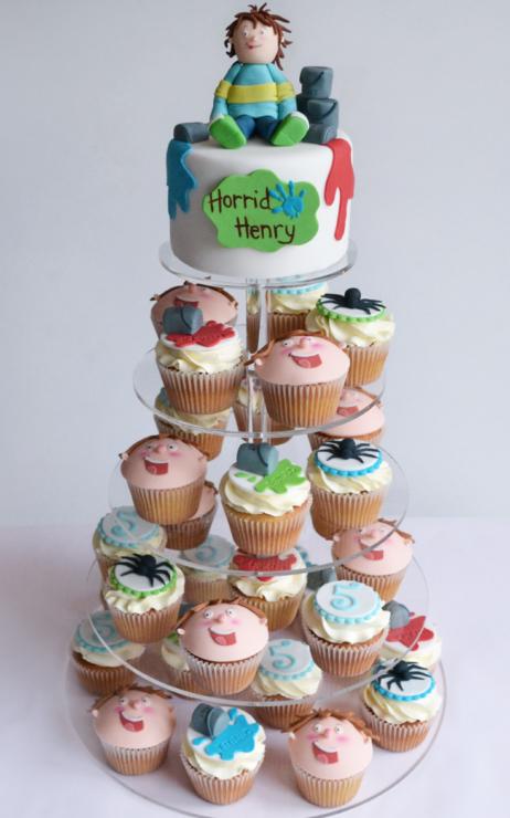 Horrid Henry cakes cupcake tower
