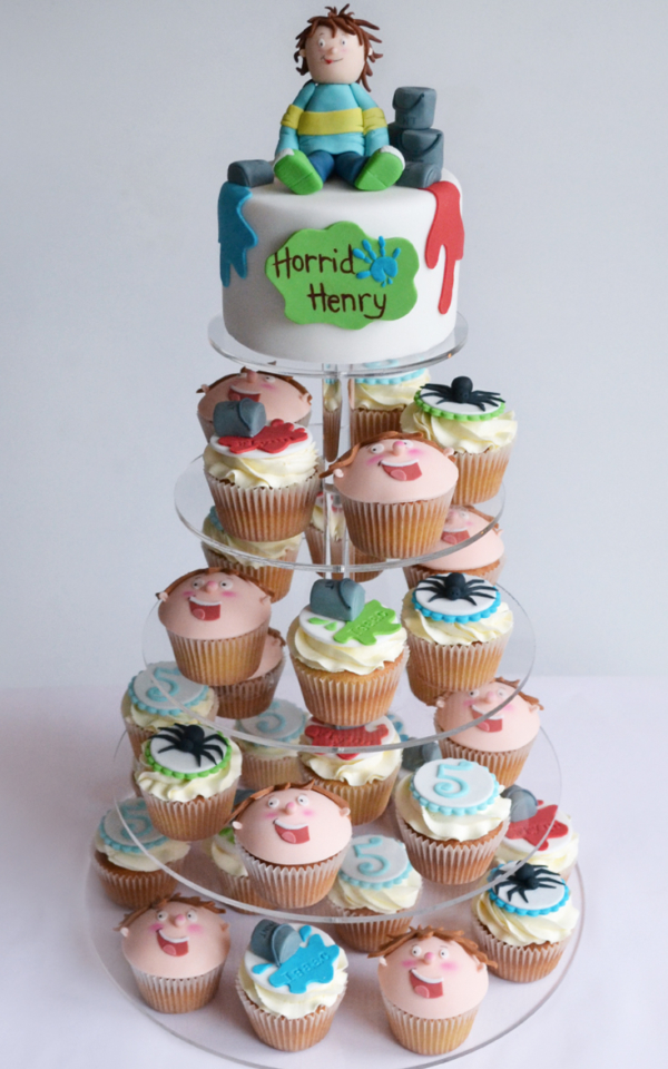 Horrid Henry cakes cupcake tower