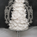 modern-white-ruffle-wedding-cake-bling-simple