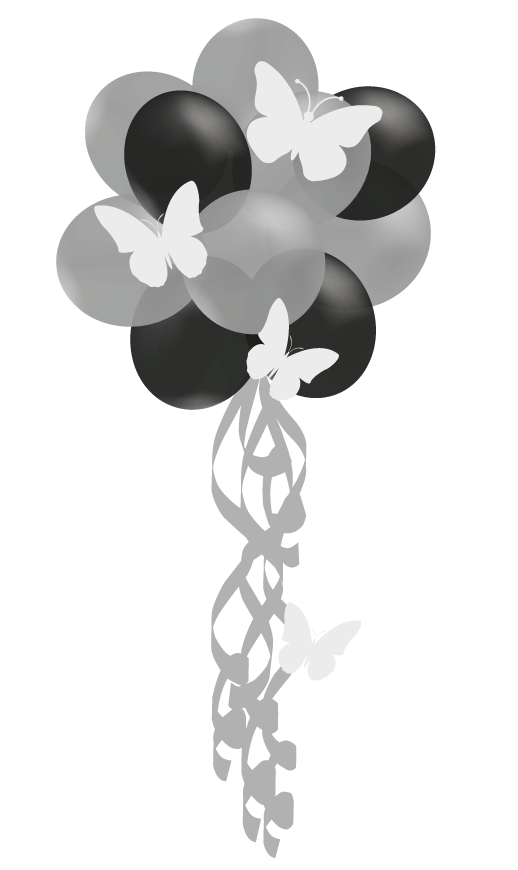 balloon cloud butterfly