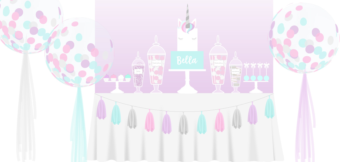 Balloons. Cake & Candy Buffet packages