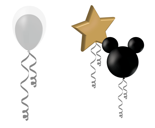 confetti filled single party balloons