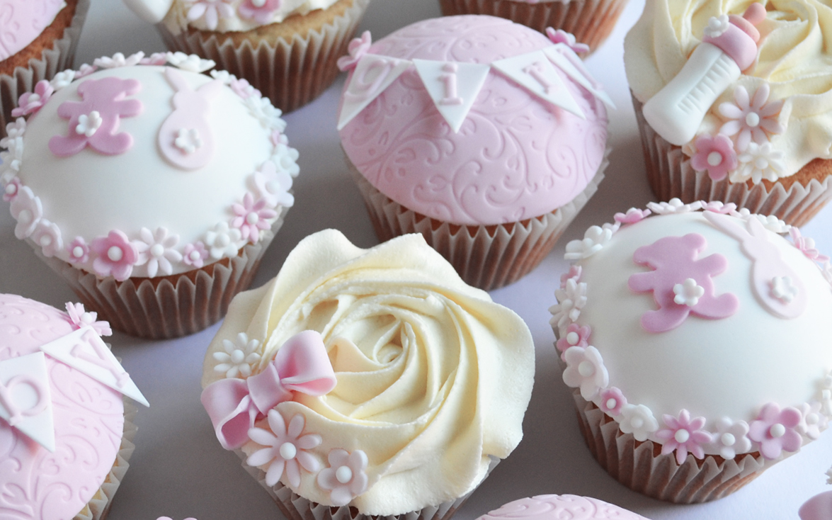 Pink Baby Shower Cakes Girls Cupcakes