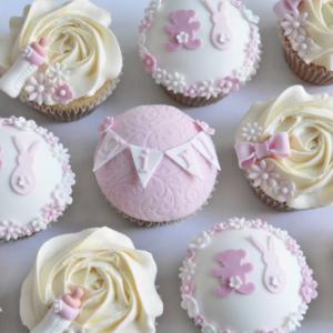 Girls Baby Shower Cupcakes