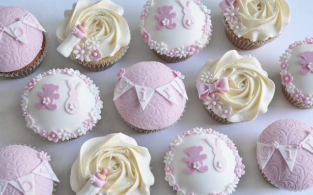 Girls Baby Shower Cupcakes