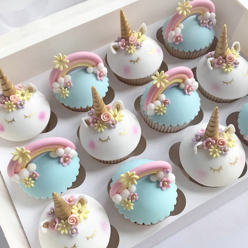 Unicorn Cupcakes Birthday Cake