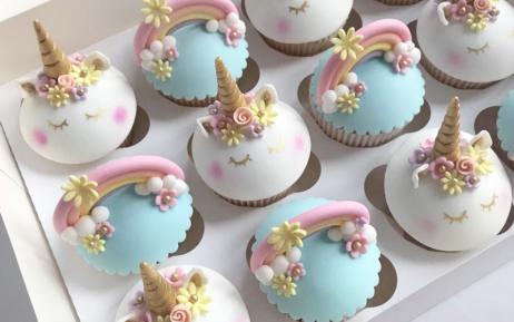 unicorn cupcakes girls birthday
