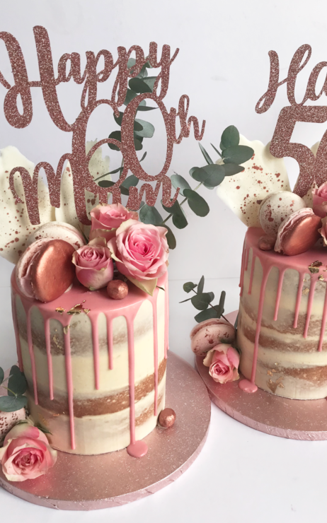 Drip Cake - rose gold & blush