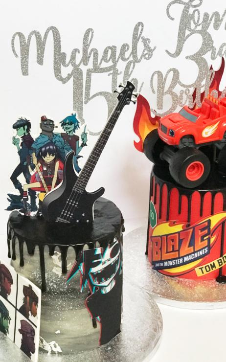 birthday blaze cake drip cake