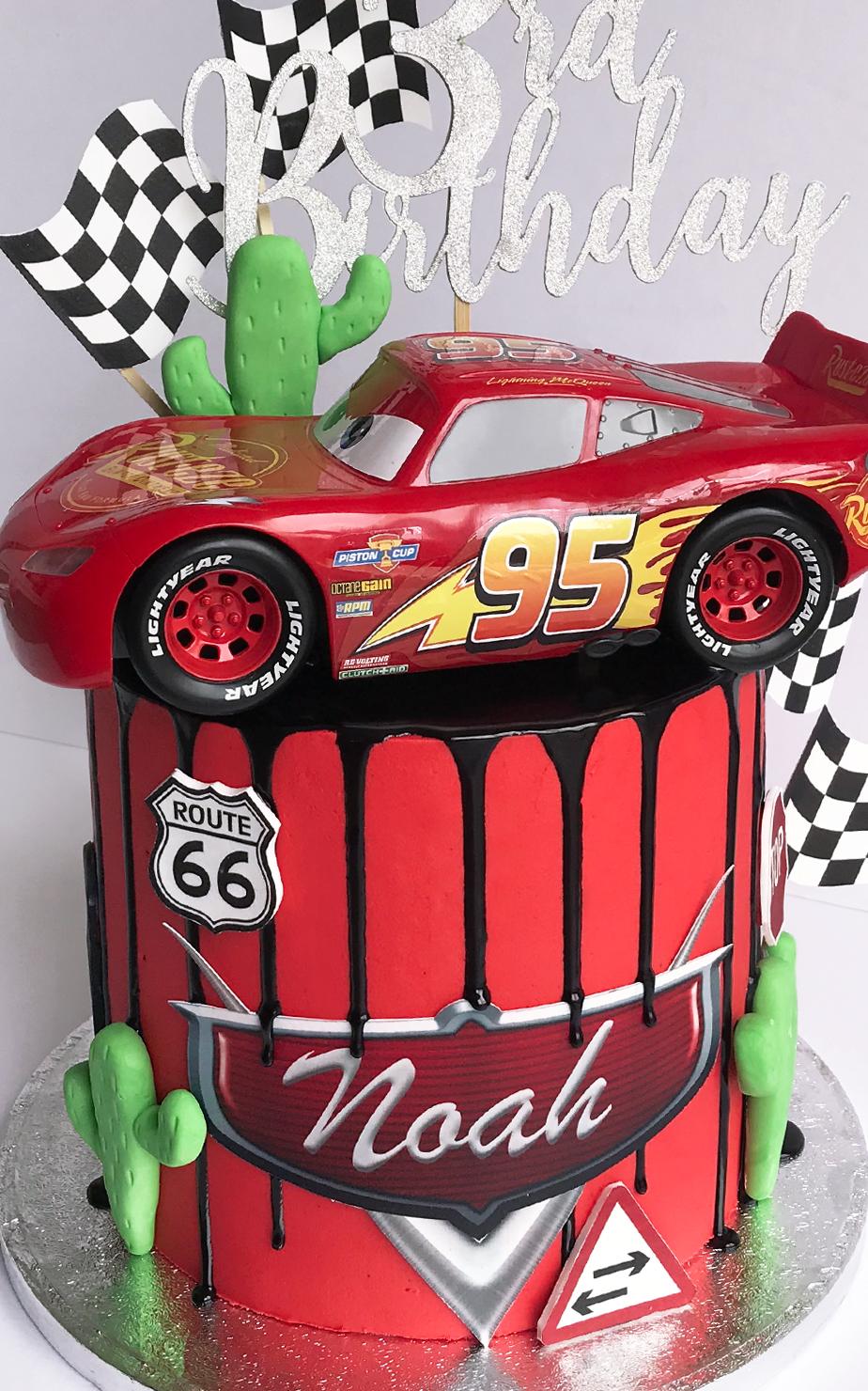 Fabulous Cars Cake Celebration Drip Cakes Antonias Cakes Cake Shop St Helens Personalised Birthday Cards Veneteletsinfo